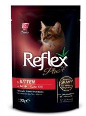 Reflex Plus Kuzulu Pouch Yavru Kedi Konserve Sos İçinde 100 Gr
