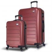 My Valice Ruby Abs 2li Valiz Seti (Kabin Ve Büyük) Bordo