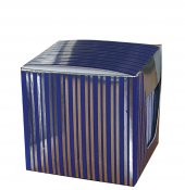 Kutulu Küp Notluk Metalize Karton Kutulu Mavi