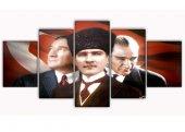 Atatürk 5 Parça Kanvas Tablo