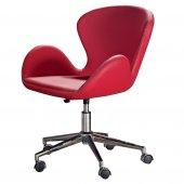 Loft Kırmızı Ofis Büro Sandalyesi