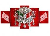 Osmanlı Arması 5 Parça Kanvas Tablo