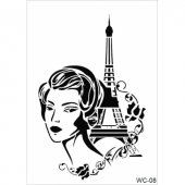 Wc8 Woman Collection Cadence A4 Stencil