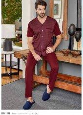 Eros 21088 Erkek Gömlek Yaka Pijama Takımı