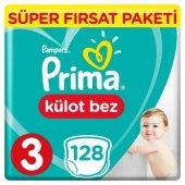 Prima Pants Külot Bebek Bezi 3 Beden Midi Fırsat Paketi 128 Adet
