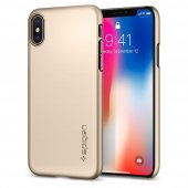 Iphone X Kılıf, Spigen Thin Fit Ultra İnce Champagne Gold
