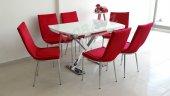 X Döküm Ayak Taytüyü Kumaş Mutfak Masası Banklı Mutfak Masaları