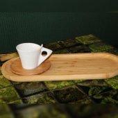 Bambu Ahşap Büyük Sunum (Kahve,çay)servis Tepsi
