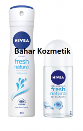 Nivea Fresh Natural Sprey 150ml Kadın + Roll On 50 Ml