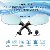 Angeleye Motosiklet İçin Çift Kameralı Araç Kamerası Yan Ayna Şe