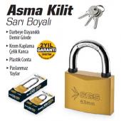 Sgs Asma Kilit Sarı Boyalı 50 Mm Ücretsiz Kargo