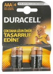 Duracell Alkalin İnce Pil 4lü