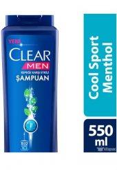 Clear Şampuan Cool Sport Menthol 550 Ml