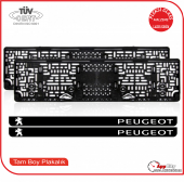 Peugeot Logolu Pleksi Plakalık