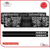 Nissan Logolu Pleksi Plakalık