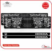 Honda Logolu Pleksi Plakalık