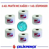 6 Rulo Pratik Wc Kağıdı İçten Çekmeli + Dispenser