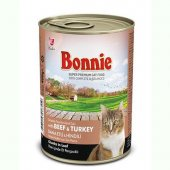 Bonnie Dana Etli Ve Hindili Yetişkin Kedi Maması Yaş Mama