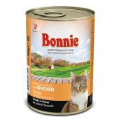 Bonnie Tavuklu Yetişkin Kedi Maması Yaş Mama Et Parçacıklı