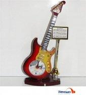 Gitar Tasarımlı Dekoratif Masa Saati