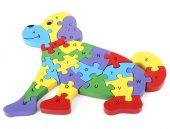 Ahşap Puzzle Köpek Figürlü Yapboz