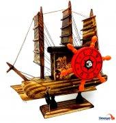 Ahşap Yelkenli Gemi Müzik Kutusu