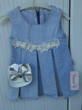 Cincır Çanta Hediyeli Kot Elbise