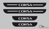 Opel Corsa Plastik Kapı Eşiği (4lü Set)