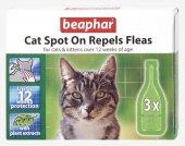 Beaphar Bio Spot On Repels Fleas Kedi Pire Damlası (3lü Paket)