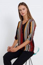 Modailgi Eva Yarım Patlı Bluz Bordo