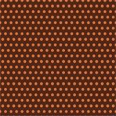 Kahverengi Zemin Üzerine Küçük Turuncu Puanlı Keçe Plaka (Dk P21)