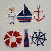 Denizci Temalı Desenli Keçe Aplike (Dk 89)