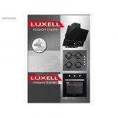 Luxell 3 Lü Cam Yüzeyli Ankastre Kristal Set Siyah