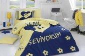 örtüm Uyku Seti Tek Kişilik Fanatik Sarı Lacivert