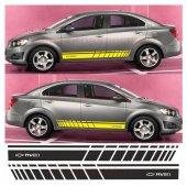 Chevrolet Aveo Yan Şerit Oto Sticker