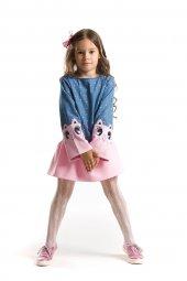 Denokids İkiz Kanka Kız Çocuk Denim Elbise