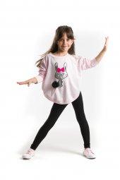 Denokids Ponponlu Tavşan Kız Çocuk Tunik Takım