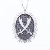 925 Ayar Gümüş Çift Zülfikar Kolye