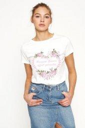 Koton 7yal16516ık Kadın Kısa Kol Baskılı T Shirt