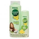 Elidor Şampuan 550 Ml + 200 Ml Saç Kremi Detox Freahlığı Limon Ve