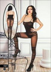 Miss Feliz 7097 Vücut Çorabı Siyah Standart Beden