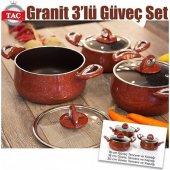 Taç Granit 3 Lü Güveç Set (16,18 Ve 20 Cm)