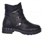 Sonimix 300 Siyah Fermuarlı Termal Kışlık Kız Çocok Bot Ayakkabı