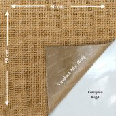 Yapışkanlı Doğal Jüt Telis Kumaş Çuval Bezi 50 X 50cm