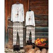 Penye Mood 8413 Çocuk Pijama Takımı Bej