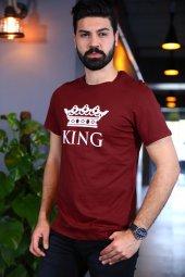 Kıng Bordo Tshirt Kısa Kollu Tişört