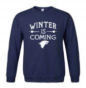 Winter İs Coming Lacivert Sweatshirt Stark Wınter Is Comıng