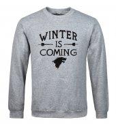 Winter İs Coming Gri Sweatshirt Stark Wınter Is Comıng