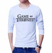 Game Of Thrones Erkek Tişört Beyaz Erkek Tshirt Uzun Kol T Shirt