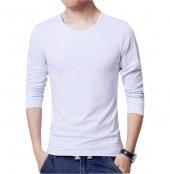 Sıfır Yaka Erkek Tişört Beyaz Erkek Tshirt Uzun Kollu T Shirt